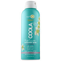 Coola Sport Continuous Spray SPF 30 - Fresh Cucumber 3oz