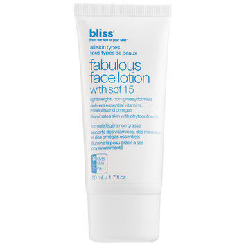 Bliss Fabulous Face Lotion with spf 15 50ml