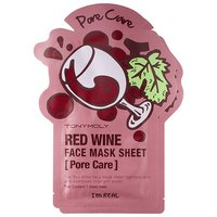 Tony Moly I'm Real - Red Wine Face Mask Sheet - Pore Care (2 pack)