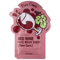 Tony Moly I'm Real - Red Wine Face Mask Sheet - Pore Care