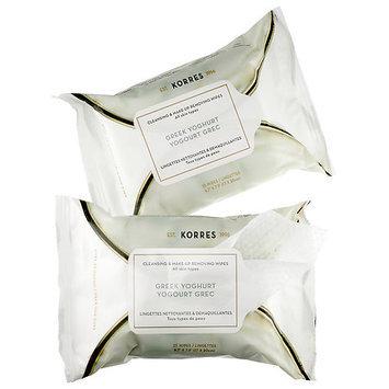 Korres Greek Yoghurt Cleansing Face Wipes Duo