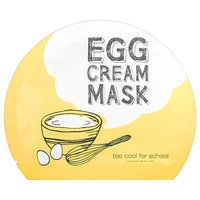 Too Cool For School Egg Cream Sheet Mask