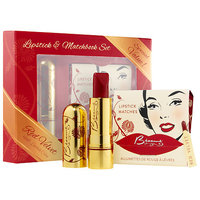 Besame Cosmetics Lipstick & Matchbook Set Red Velvet 1946