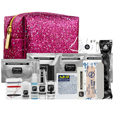 Pinch Provisions Minimergency Kit For Her - Pink Glitter 3.5