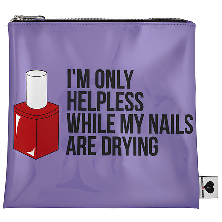 SEPHORA COLLECTION Breakup To Makeup Jelly Bag I'm Only Helpless While My Nails Are Drying