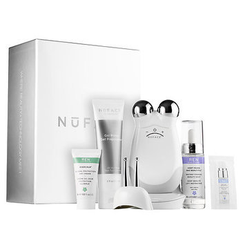 NuFACE Trinity + Eye and Lip Enhancer Attachment with REN Firming Set