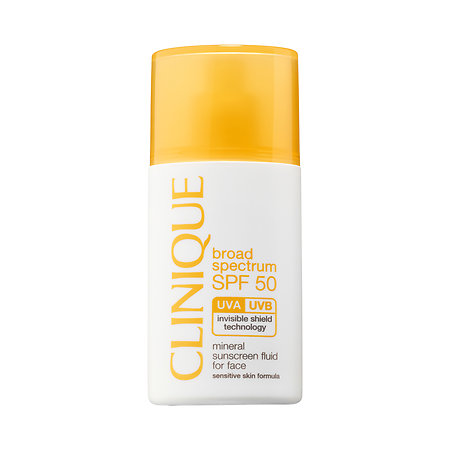 Clinique Broad Spectrum SPF 50 Mineral Sunscreen Fluid for Face 1 oz