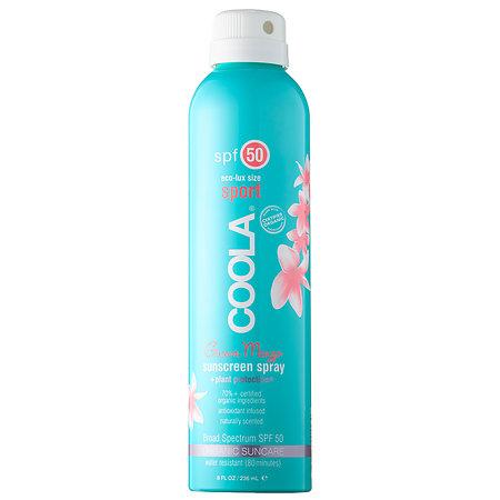 COOLA Eco-Lux Sport SPF 50 Guava Mango Organic Sunscreen Spray