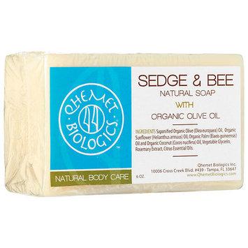 Qhemet Biologics Sedge & Bee Natural Soap with Organic Olive Oil 6 oz