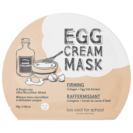 Too Cool For School Egg Cream Mask Firming 1 single-use mask