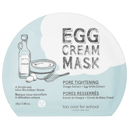 Too Cool For School Egg Cream Mask Pore Tightening 1 single-use mask
