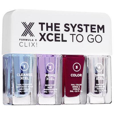 Formula X The System XCEL(TM) To Go CLIX! - Travel-Sized Gel-Like Nail Polish Set 4 x 0.1 oz