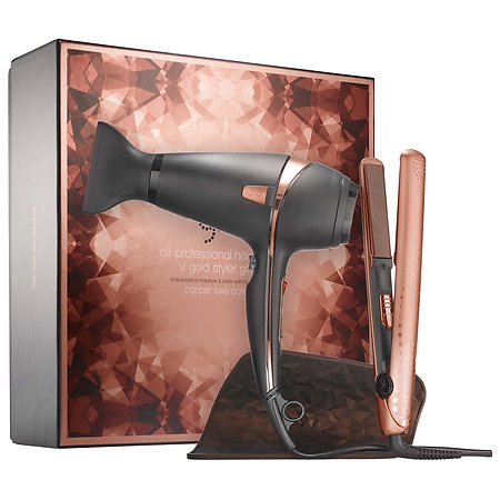 ghd Copper Luxe Air Professional Hairdryer & V Gold Styler Gift Set