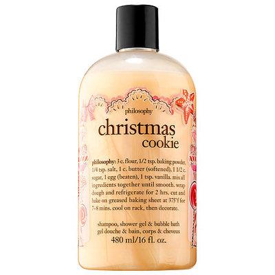 Philosophy Christmas Cookie Shampoo Shower Gel Bubble Bath 16 Oz 480 ML
