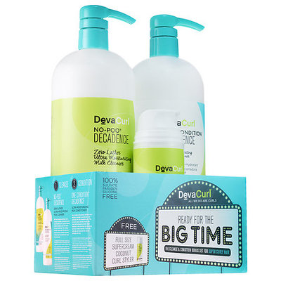 DevaCurl Ready for the Big Time The Cleanse & Condition Bonus Set for Super Curly Hair