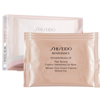 Shiseido Benefiance WrinkleResist24 Pure Retinol Express Smoothing Eye Mask 3 Packettes x 2 Sheets