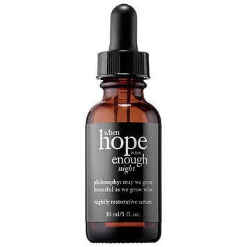 philosophy When Hope is Not Enough Nightly Restorative Serum 1 oz/ 30 mL