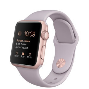 Apple Watch Sport 38mm Rose Gold Aluminium Case with Lavender Sport Band