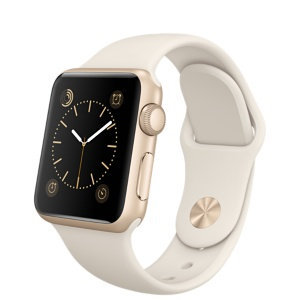 Apple Watch Sport 38mm Gold Aluminum Case - Antique White Sport Band