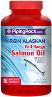 Piping Rock Salmon Oil 1000mg 180 Softgels