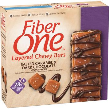 Fiber One Layered Chewy Bars Salted Caramel Dark Chocolate