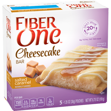 Fiber One Salted Caramel Cheesecake Bar
