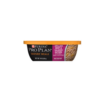 PRO PLAN® SAVORY MEALS Grilled Beef & Salmon Entree With Sweet Potatoes