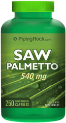 Piping Rock Saw Palmetto 540mg 250 Capsules