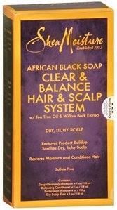 SheaMoisture African Black Soap Clear & Balance Hair & Scalp System