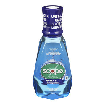Scope Outlast Mouthwash, Long Lasting Peppermint, 500 mL