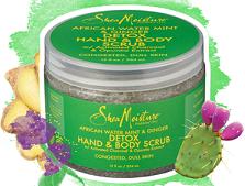 SheaMoisture African Water Mint & Ginger Detox Hand & Body Scrub Body Scrub