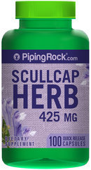 Piping Rock Scullcap Herb 425mg 100 Capsules