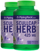 Piping Rock Scullcap Herb 425 mg 2 Bottles x 100 Capsules