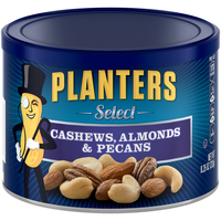 Planters Select. Cashews, Almonds & Pecans Can