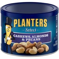 Planters Select. Cashews, Almonds & Pecans Can