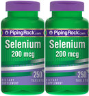 Piping Rock Selenium 200mcg 2 Bottles x 250 Tablets