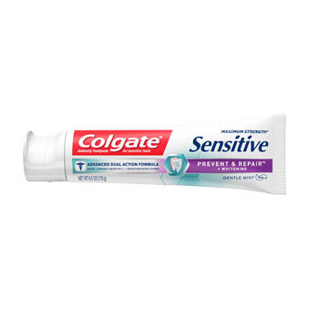 Colgate® Sensitive PREVENT & REPAIR™ + WHITENING Toothpaste Gentle Mint