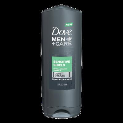 Dove Men+Care Sensitive Shield Body And Face Wash