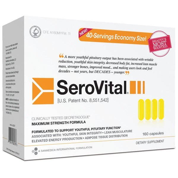 SeroVital, Anti-Aging Supplement, Maximum Strength Formula, 160 Capsules