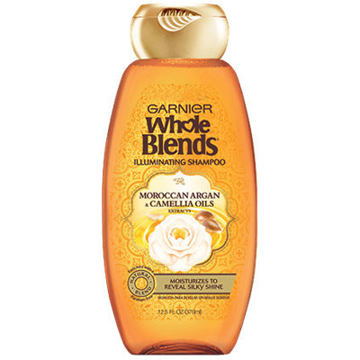 Garnier Whole Blends®  Illuminating Shampoo with Moroccan Argan and Camellia Oils Extracts