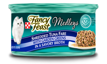 Fancy Feast® Shredded Fare Tuna Wet Cat Food With Garden Greens In A Savory Broth
