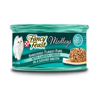 Fancy Feast® Shredded Fare Turkey Wet Cat Food With Garden Greens In A Savory Broth