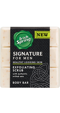 Irish Spring Signature for Men Exfoliating Bar Soap