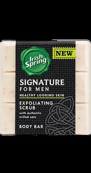 Irish Spring Signature for Men Exfoliating Bar Soap