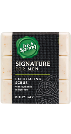 Irish Spring Signature for Men Exfoliating Scrub Bar Soap