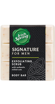 Irish Spring Signature for Men Exfoliating Scrub Bar Soap