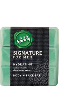 Irish Spring Signature for Men Hydrating Bar Soap with Shea Butter Extract