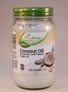Simply Nature Unrefined Cold-Pressed Virgin Coconut Oil