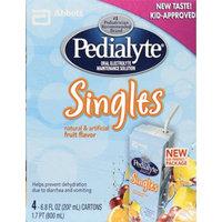 Pedialyte® Singles Fruit Flavor Oral Electrolyte Maintenance Solution Natural & Artificial Fruit Flavor
