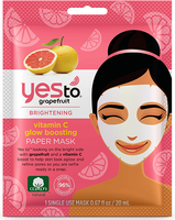 Yes To Grapefruit Vitamin C Glow boosting Paper Mask Single Use